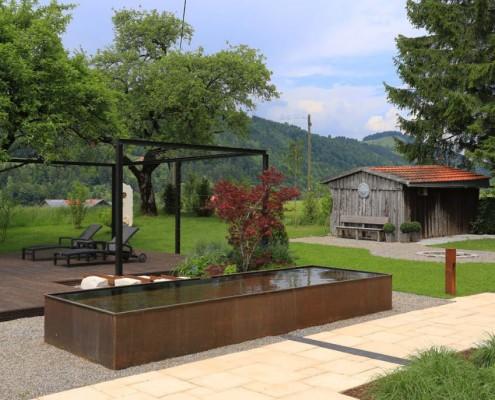 Garten-Wasserbecken