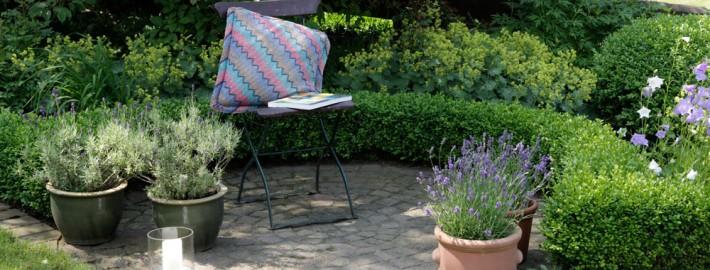 Gartenterrasse-Sitzecke