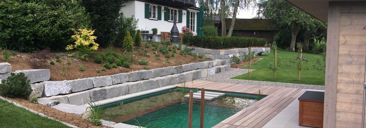 Projekt Hausgarten Mit Schwimmteich Herrhammer Gartner