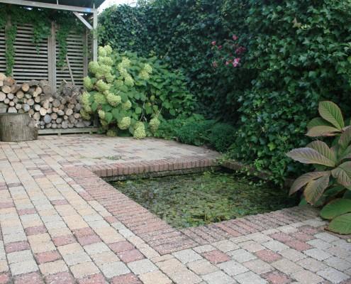 Terrassenpflasterung-Variante