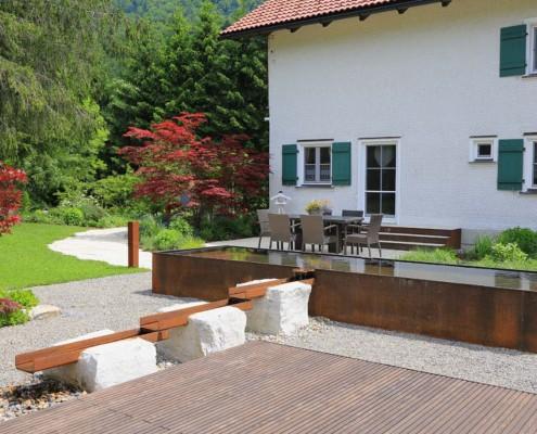 Wasserspiel-Gartengestaltung